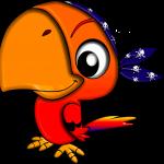 Das Bild zeigt einen gezeichneten Papageien mit Piratenkopftuch.