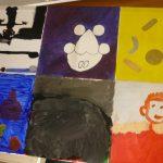 Das Bild zeigt eine Collage von Wasserfarbenbildern.