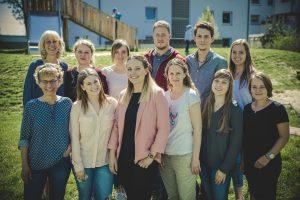 Das Bild zeigt das Team der Kita Schatzkiste.