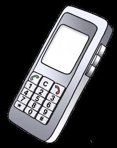 Sie sehen ein Bild von einem Telefon