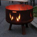Das Bild zeigt eine Feuerschale.