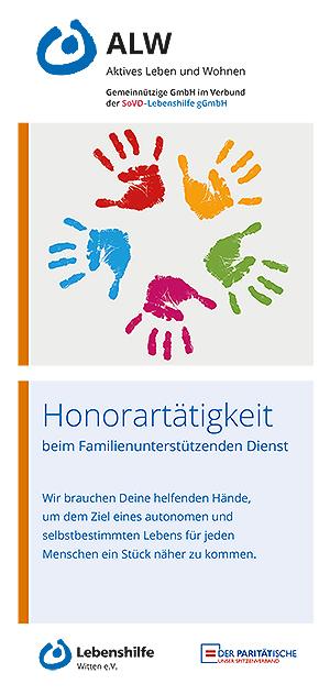 Flyer Honorartätigkeit beim Familienunterstützenden Dienst